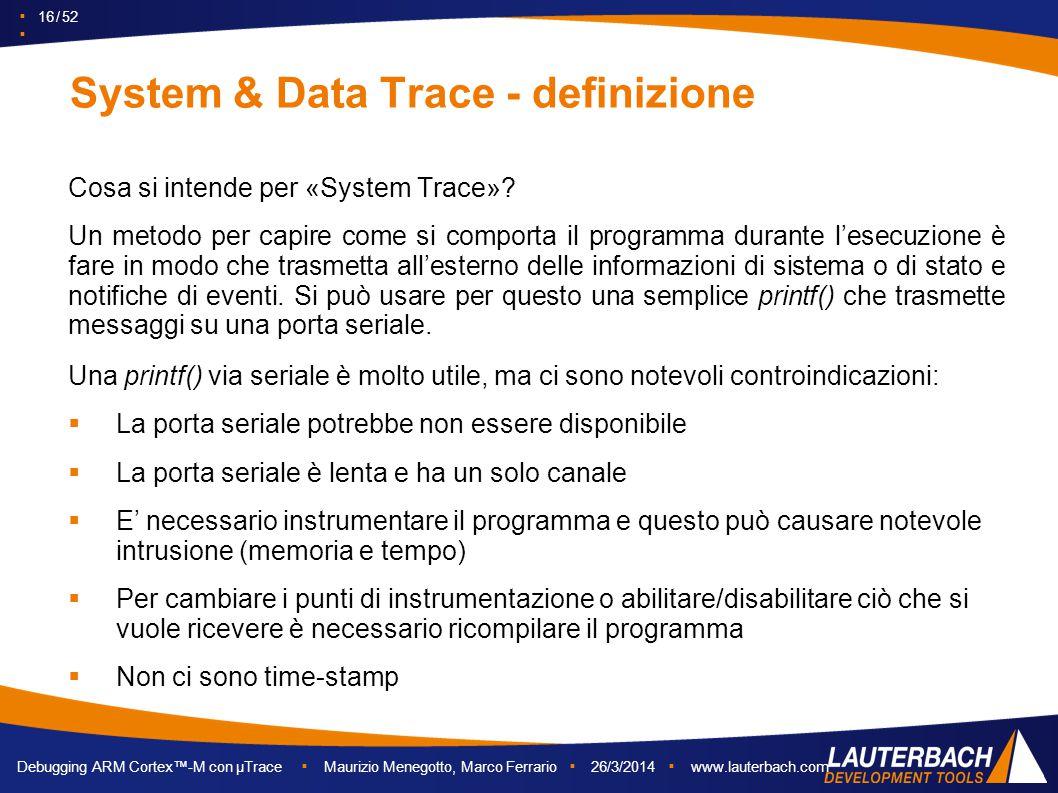 System & Data Trace - definizione