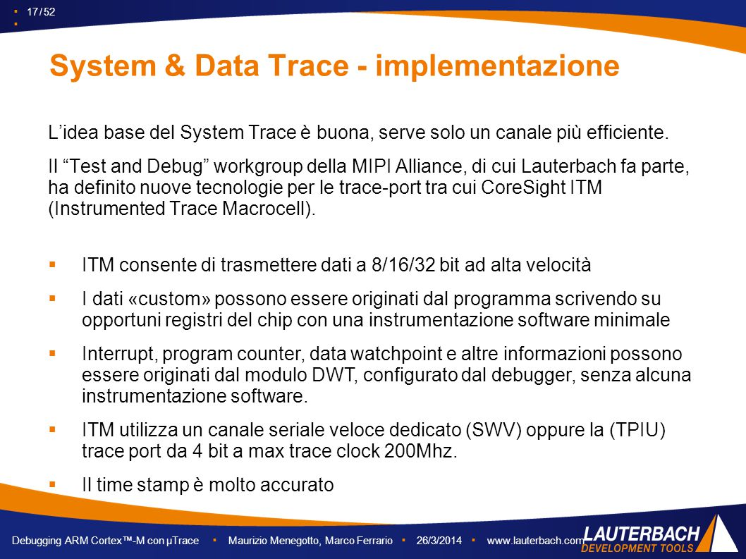 System & Data Trace - implementazione