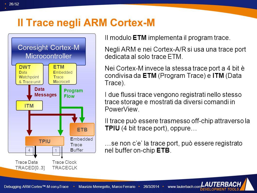 Il Trace negli ARM Cortex-M