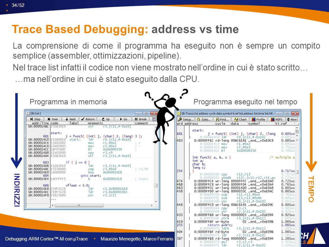 Trace Based Debugging: address vs time