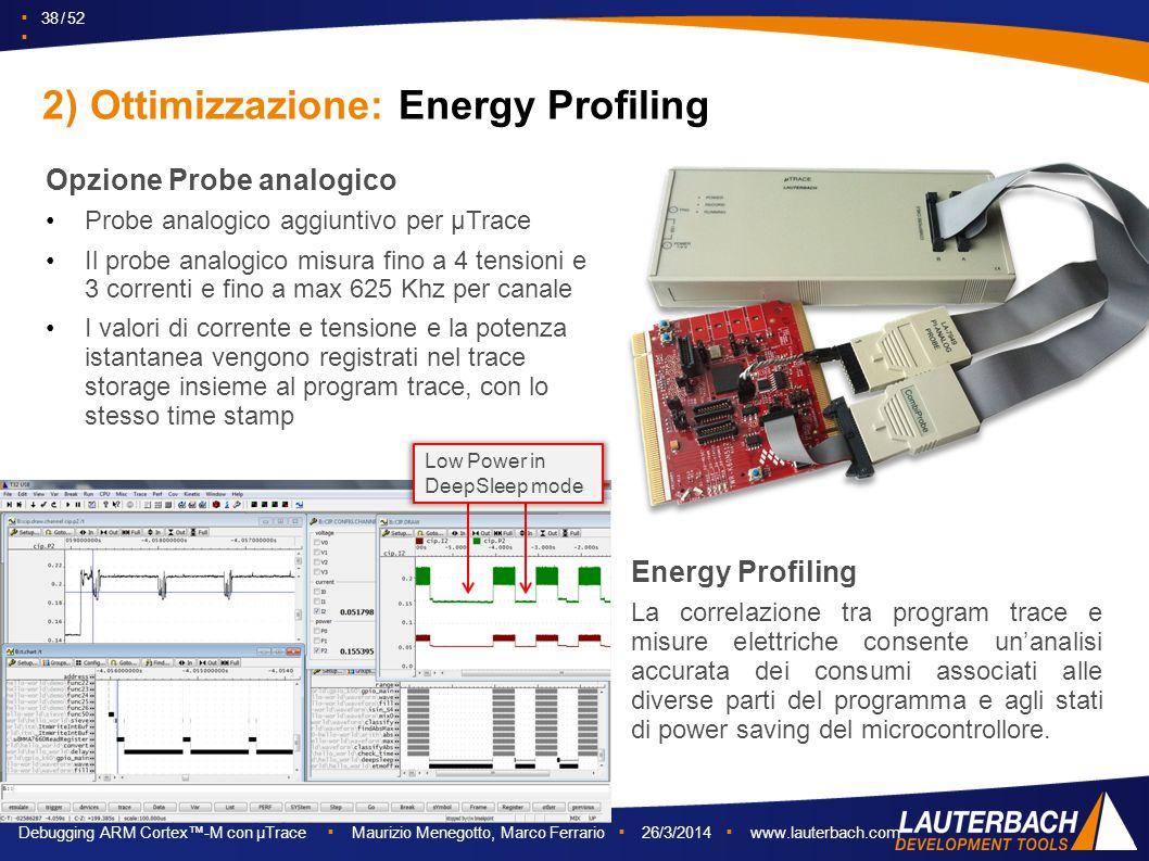2) Ottimizzazione: Energy Profiling