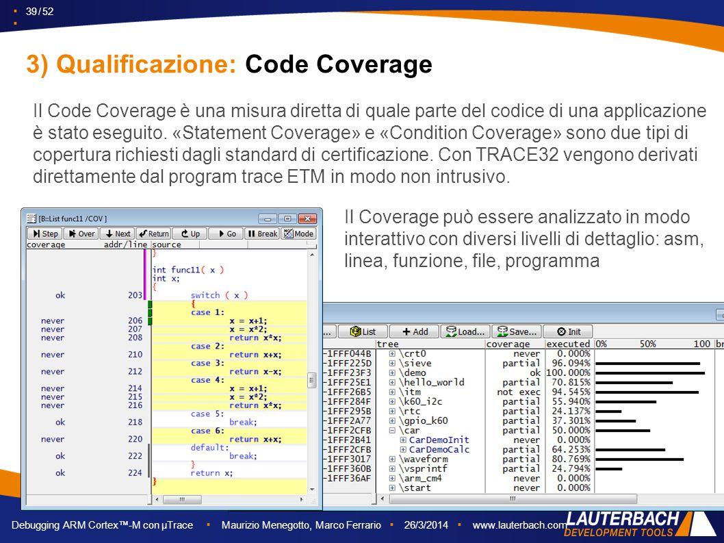 3) Qualificazione: Code Coverage