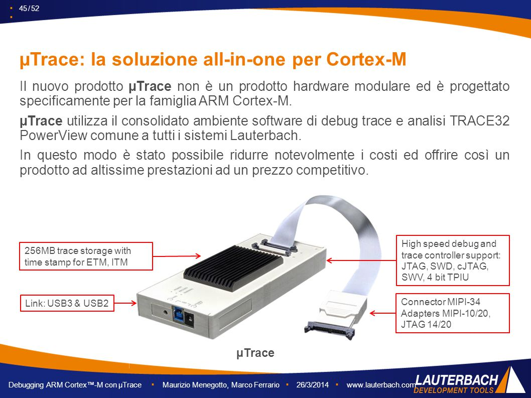 µTrace: la soluzione all-in-one per Cortex-M