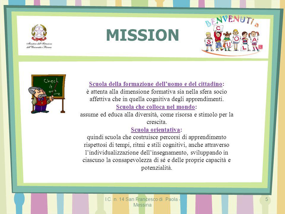 MISSION Scuola della formazione dell'uomo e del cittadino: