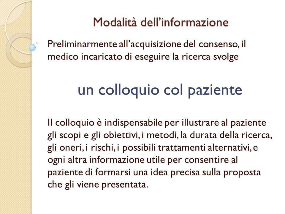 Modalità dell'informazione