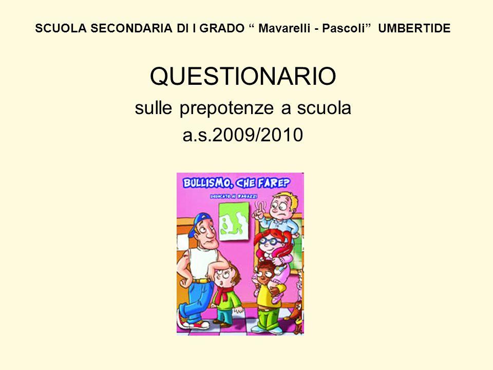 SCUOLA SECONDARIA DI I GRADO Mavarelli - Pascoli UMBERTIDE