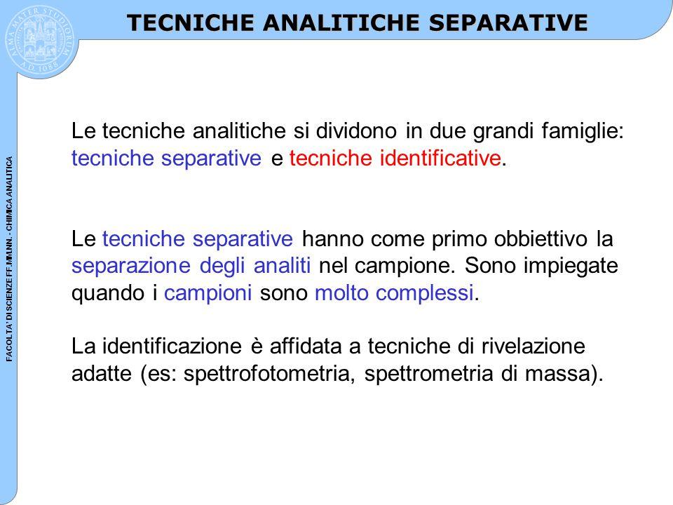 TECNICHE ANALITICHE SEPARATIVE