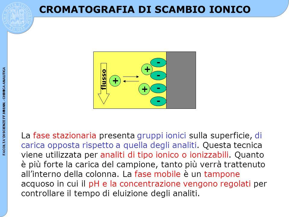 CROMATOGRAFIA DI SCAMBIO IONICO