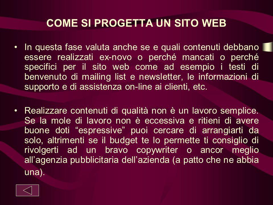 COME SI PROGETTA UN SITO WEB