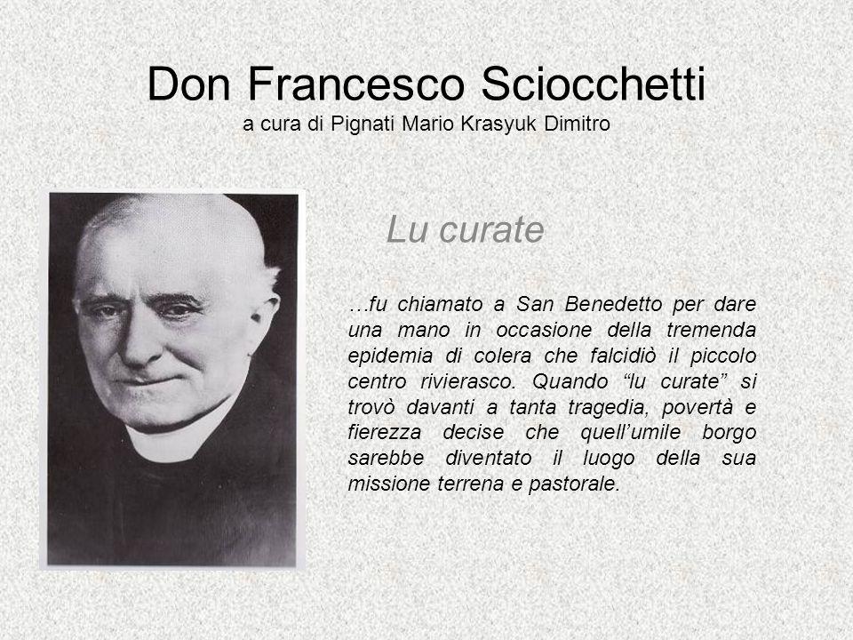 Don Francesco Sciocchetti a cura di Pignati Mario Krasyuk Dimitro