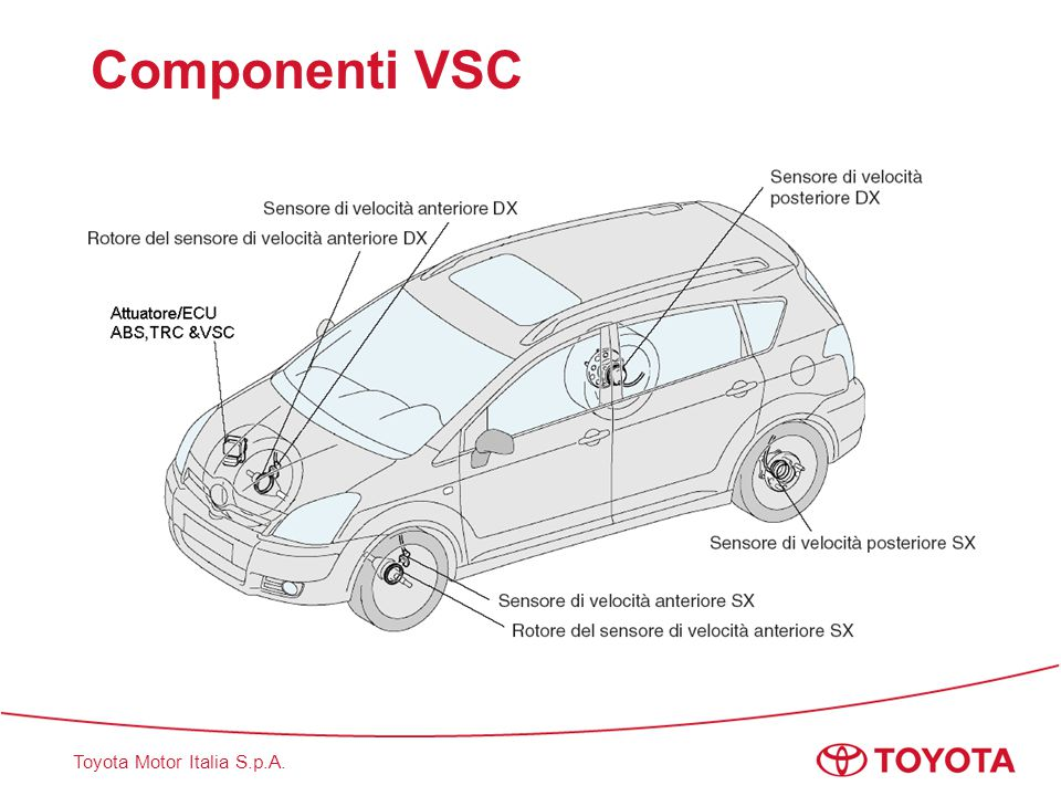 Componenti VSC This slide shows VSC components layout.