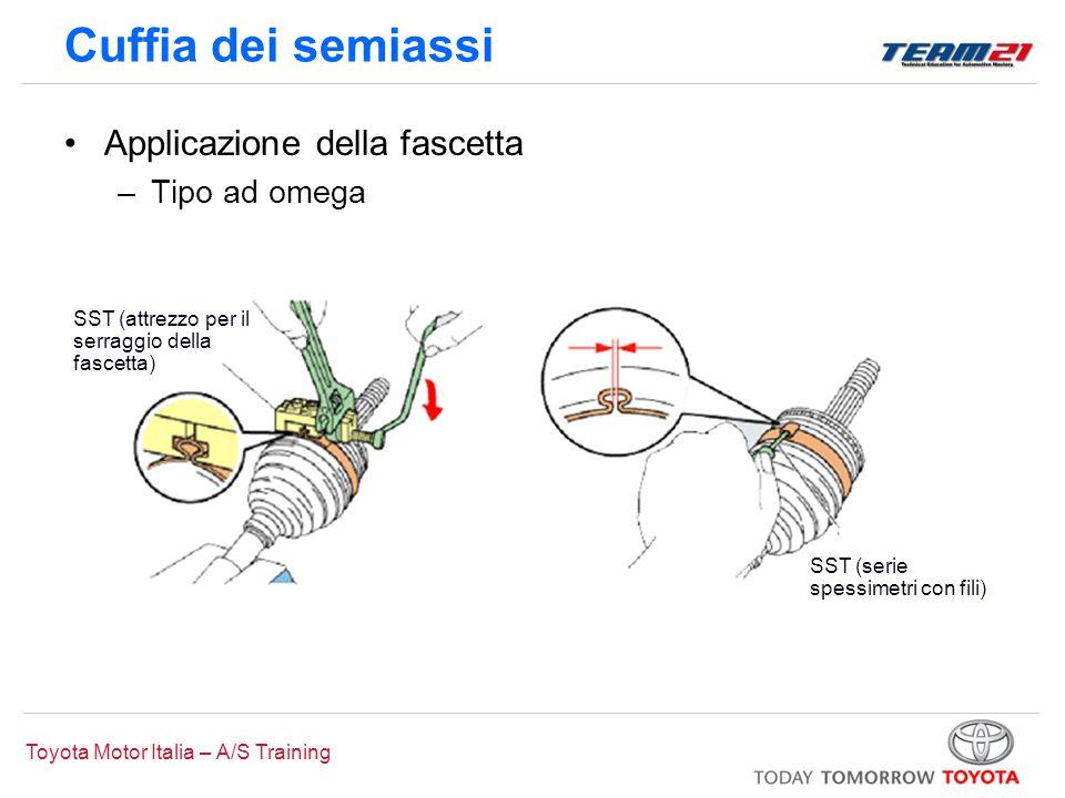 Cuffia dei semiassi Applicazione della fascetta Tipo ad omega