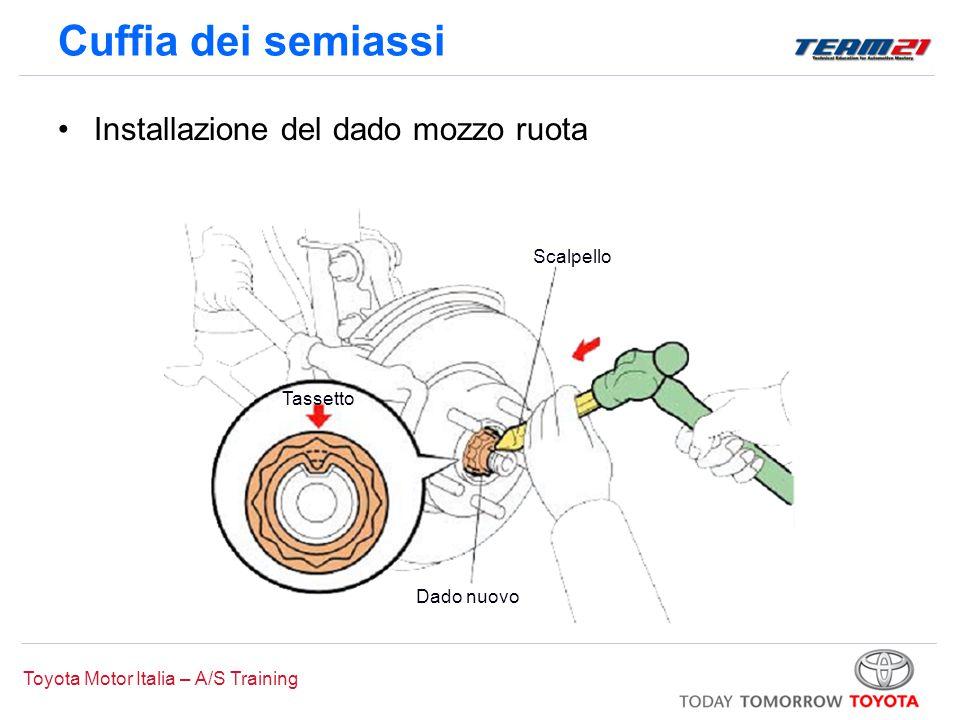 Cuffia dei semiassi Installazione del dado mozzo ruota Scalpello