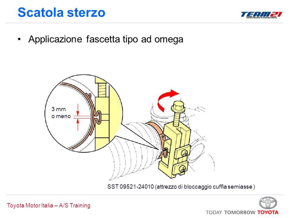 Scatola sterzo Applicazione fascetta tipo ad omega 3 mm o meno