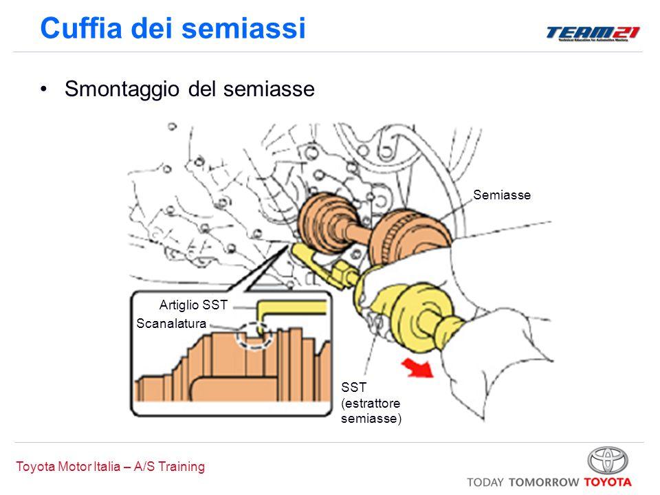 Cuffia dei semiassi Smontaggio del semiasse Semiasse Artiglio SST