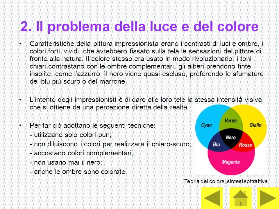 2. Il problema della luce e del colore