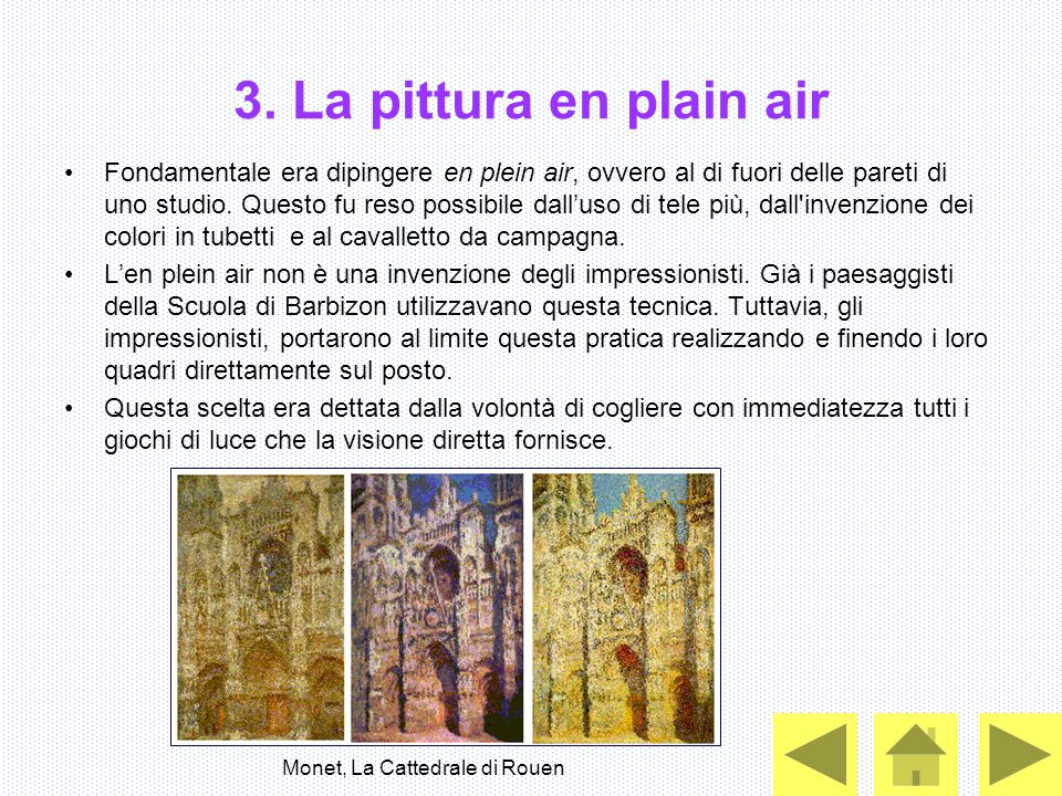 3. La pittura en plain air