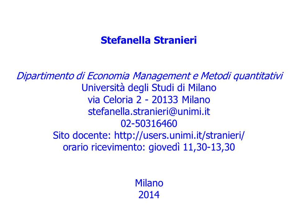 Dipartimento di Economia Management e Metodi quantitativi