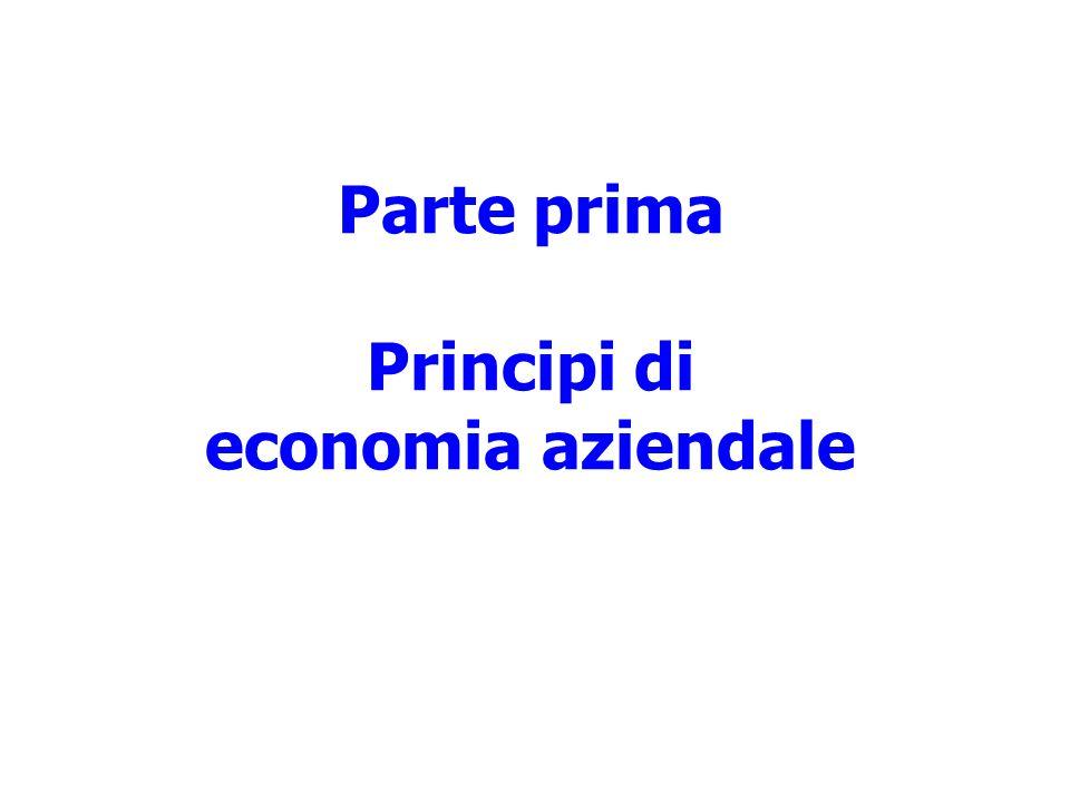 Parte prima Principi di economia aziendale