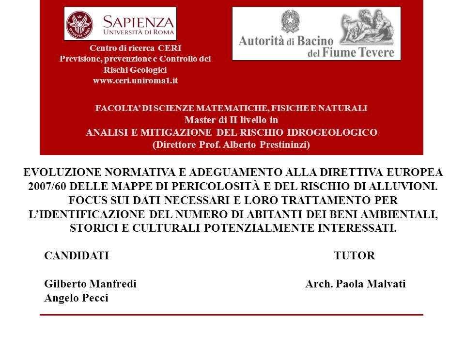 Gilberto Manfredi Arch. Paola Malvati Angelo Pecci