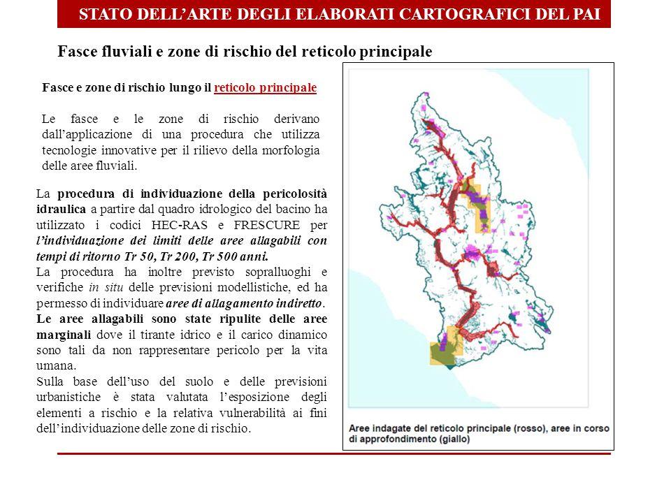 STATO DELL'ARTE DEGLI ELABORATI CARTOGRAFICI DEL PAI