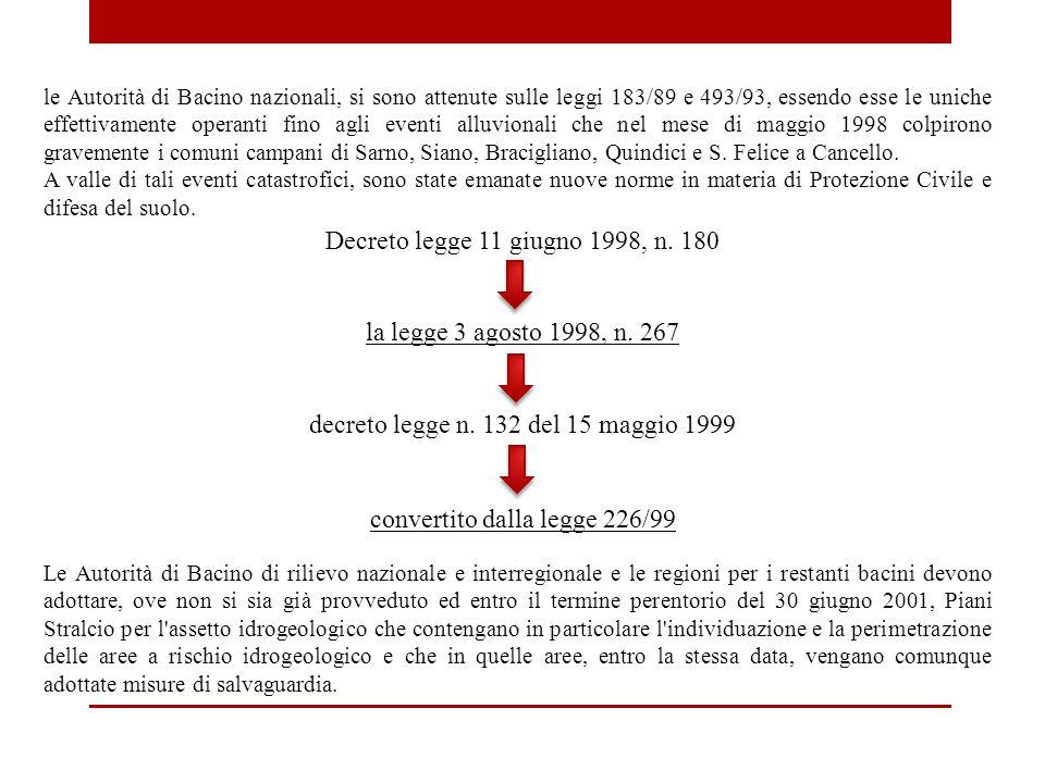 decreto legge n. 132 del 15 maggio 1999