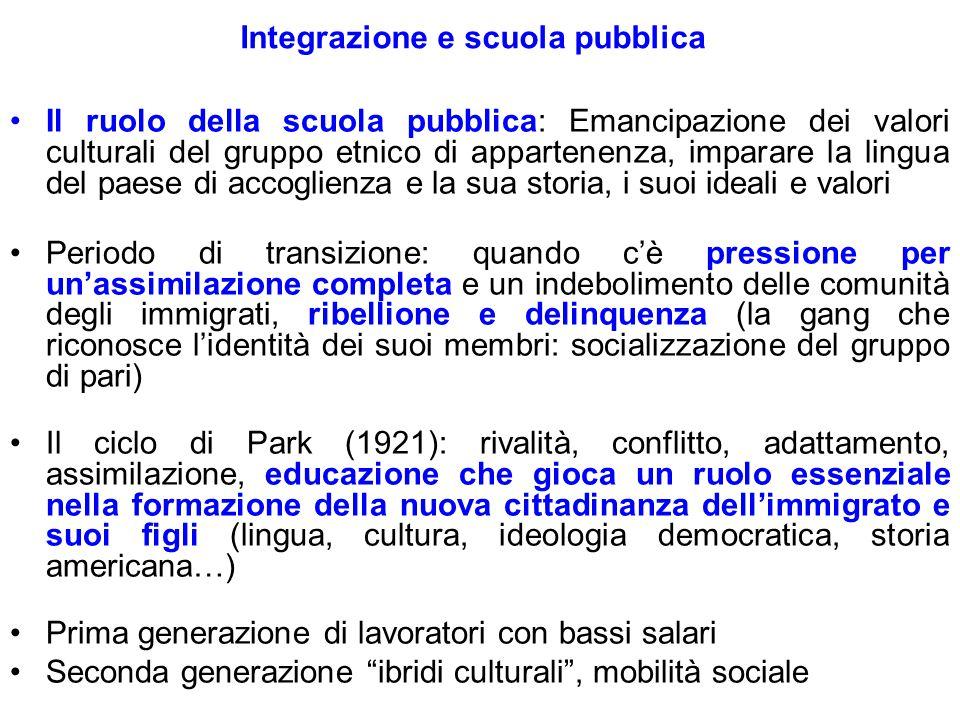 Integrazione e scuola pubblica