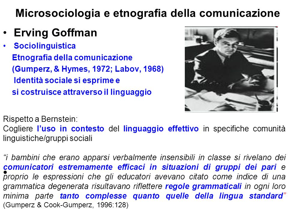 Microsociologia e etnografia della comunicazione