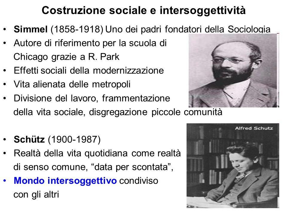 Costruzione sociale e intersoggettività