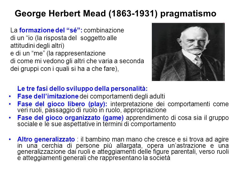 George Herbert Mead (1863-1931) pragmatismo
