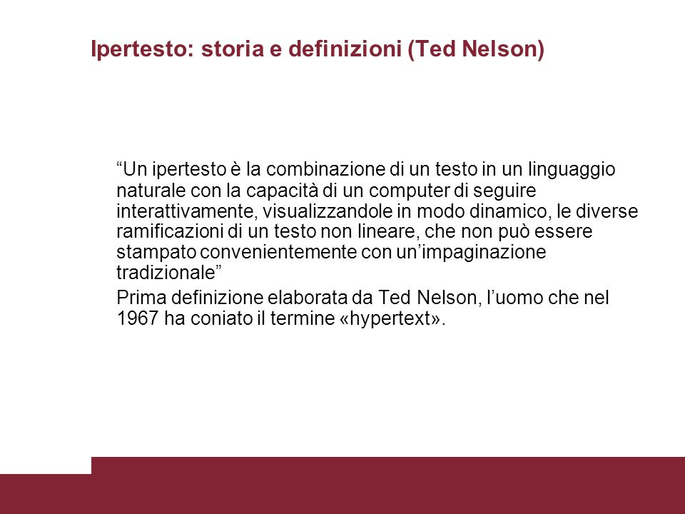 Ipertesto: storia e definizioni (Ted Nelson)