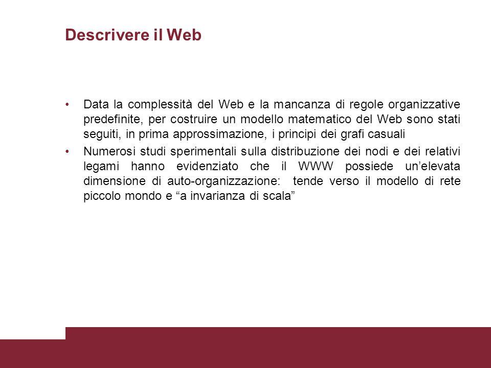 Descrivere il Web