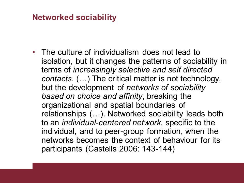 Networked sociability