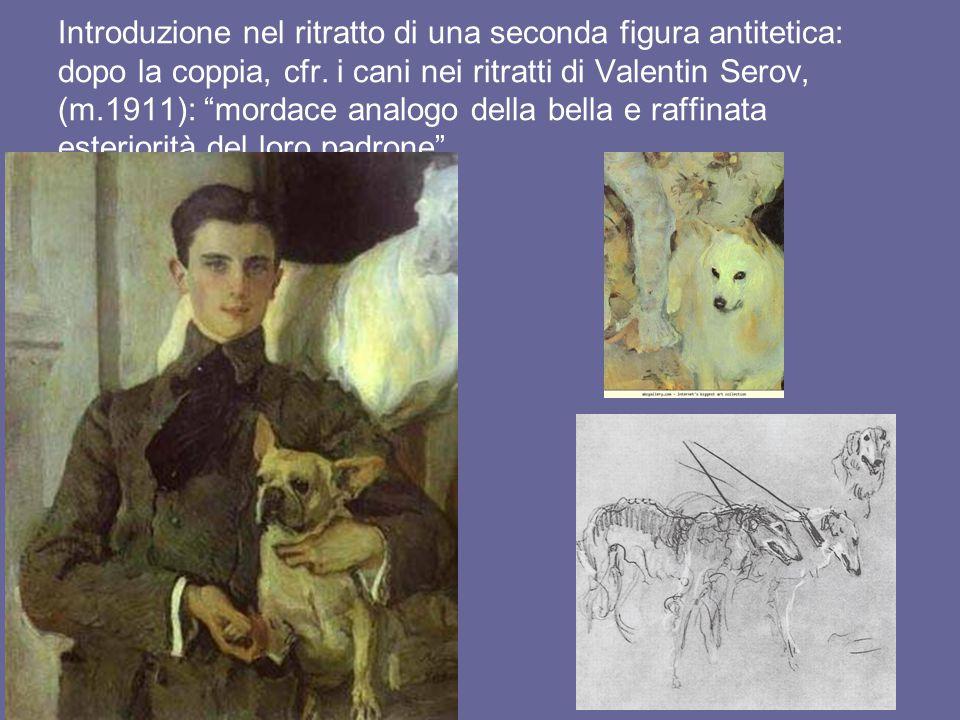 Introduzione nel ritratto di una seconda figura antitetica: dopo la coppia, cfr.