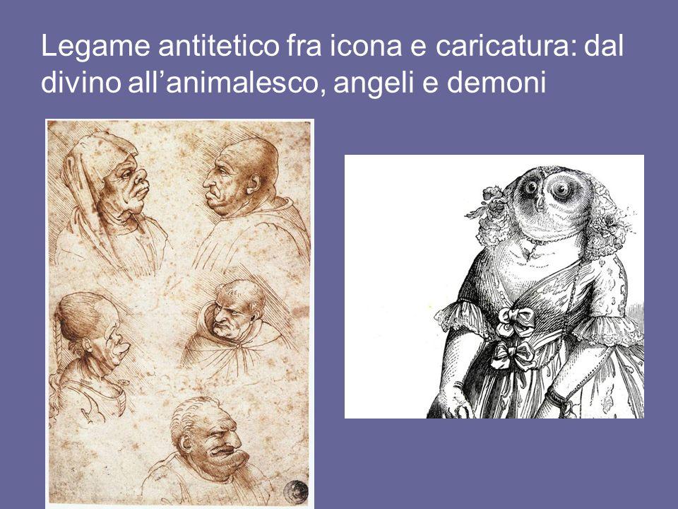 Legame antitetico fra icona e caricatura: dal divino all'animalesco, angeli e demoni