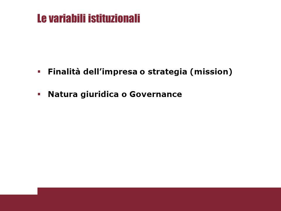 Le variabili istituzionali