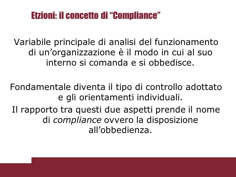 Etzioni: il concetto di Compliance