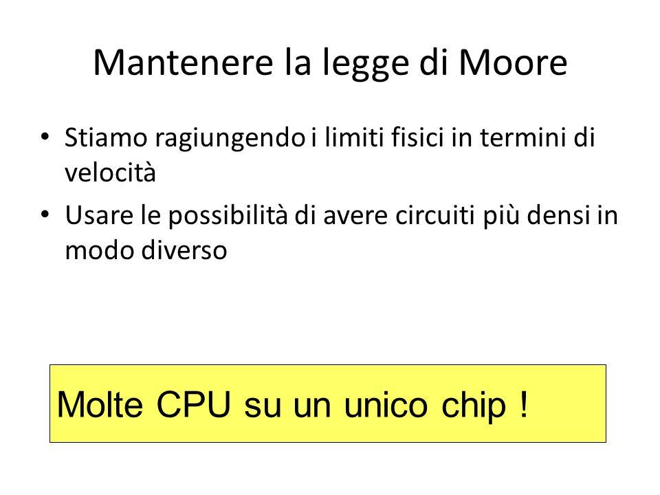 Mantenere la legge di Moore