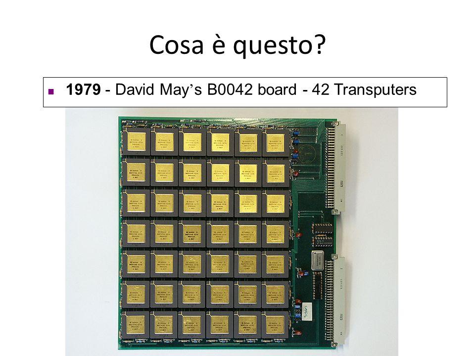 Cosa è questo 1979 - David May's B0042 board - 42 Transputers