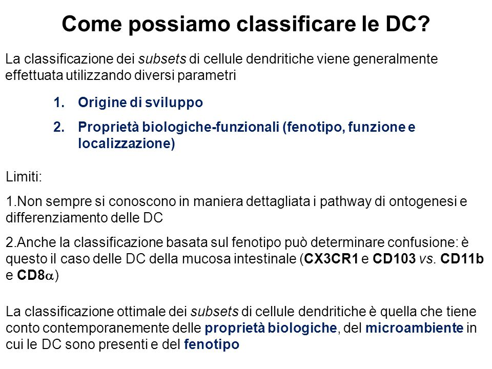 Come possiamo classificare le DC