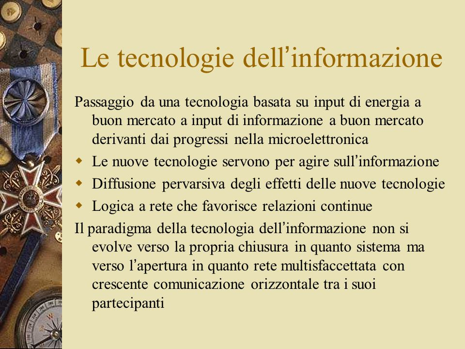 Le tecnologie dell'informazione