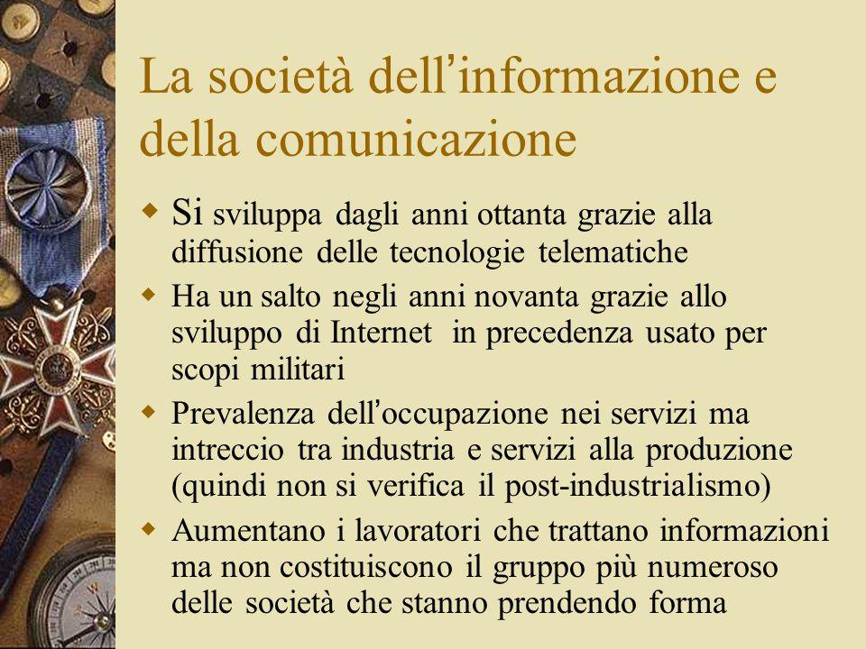 La società dell'informazione e della comunicazione
