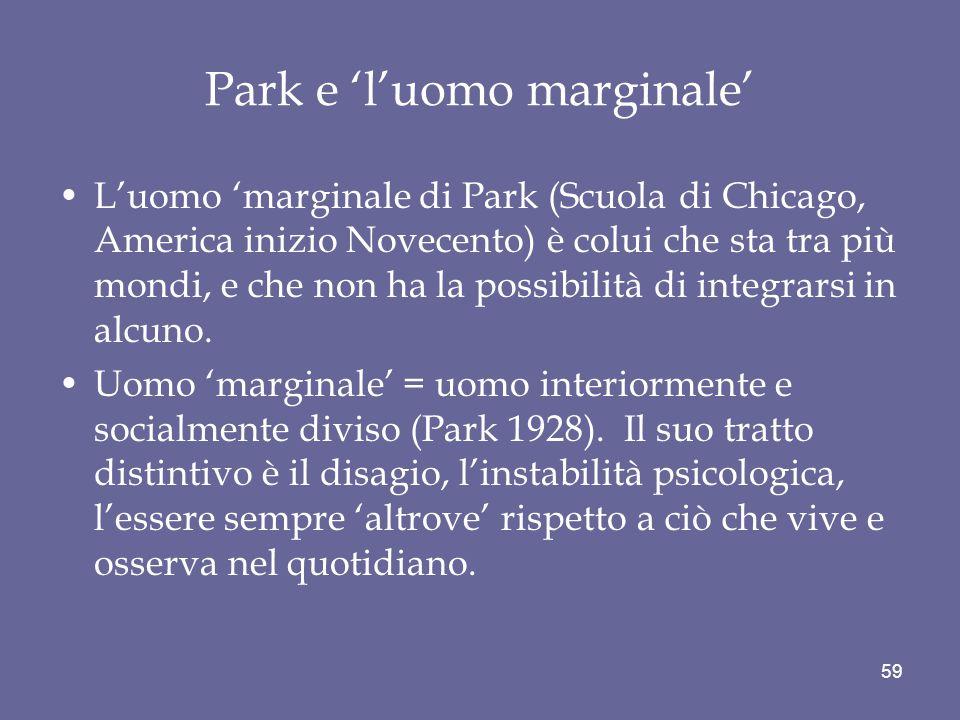 Park e 'l'uomo marginale'
