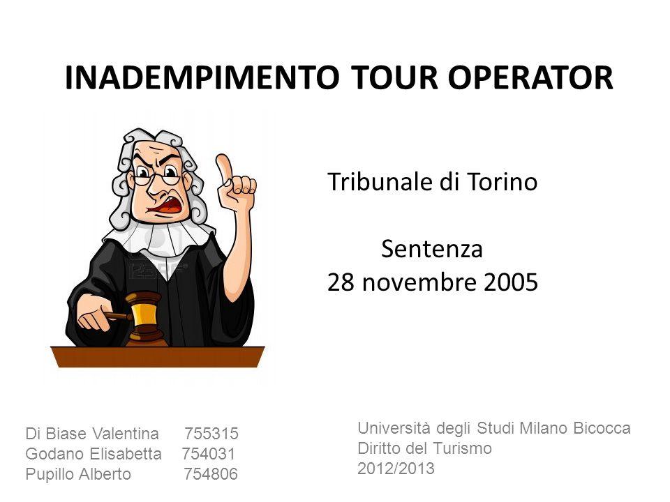 Tribunale di Torino Sentenza 28 novembre 2005