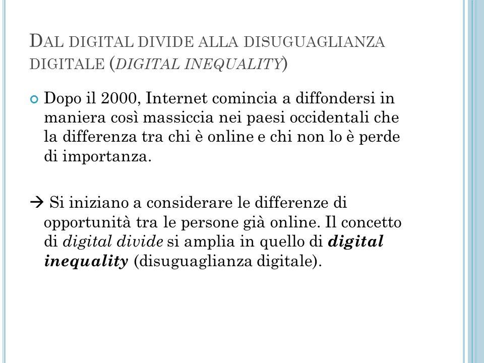 Dal digital divide alla disuguaglianza digitale (digital inequality)