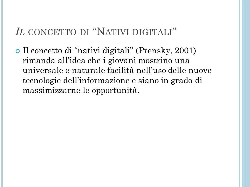 Il concetto di Nativi digitali