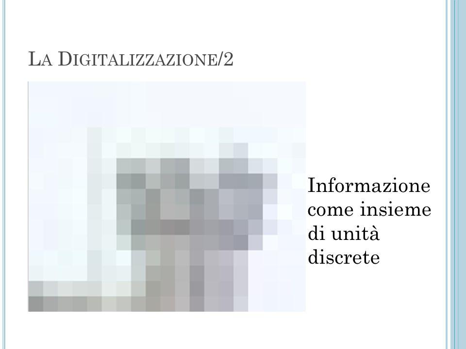 Informazione come insieme di unità discrete