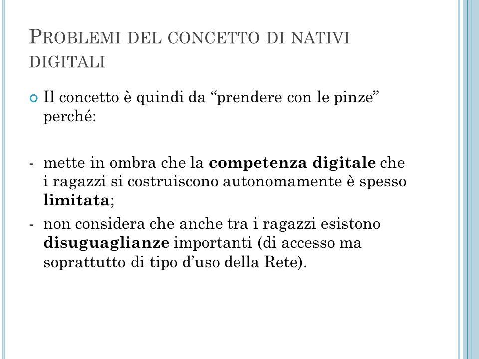 Problemi del concetto di nativi digitali