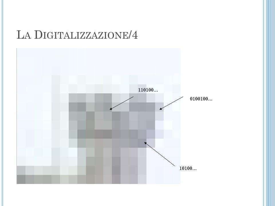 La Digitalizzazione/4 110100… 0100100… 10100…