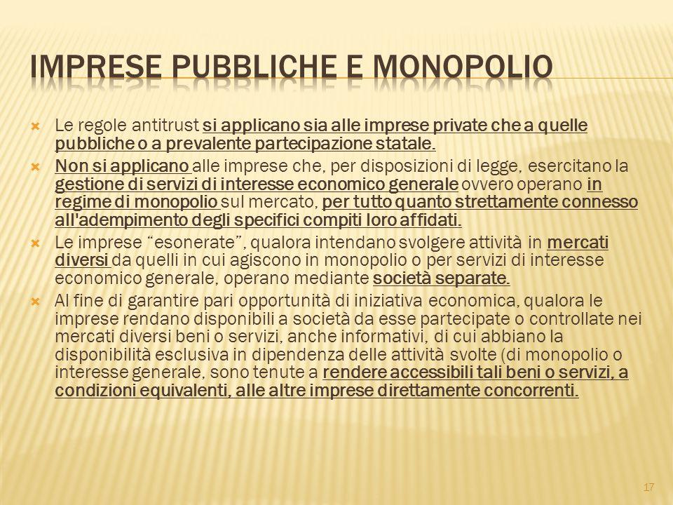 Imprese pubbliche e monopolio